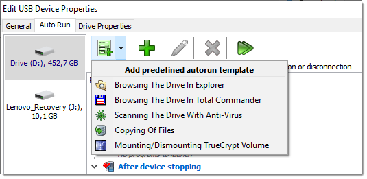 Here You Can Setup TrueCrypt Mounting For Your Required Devices.
