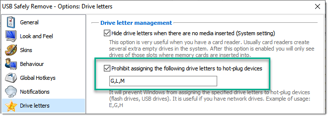 how to remove drive letter